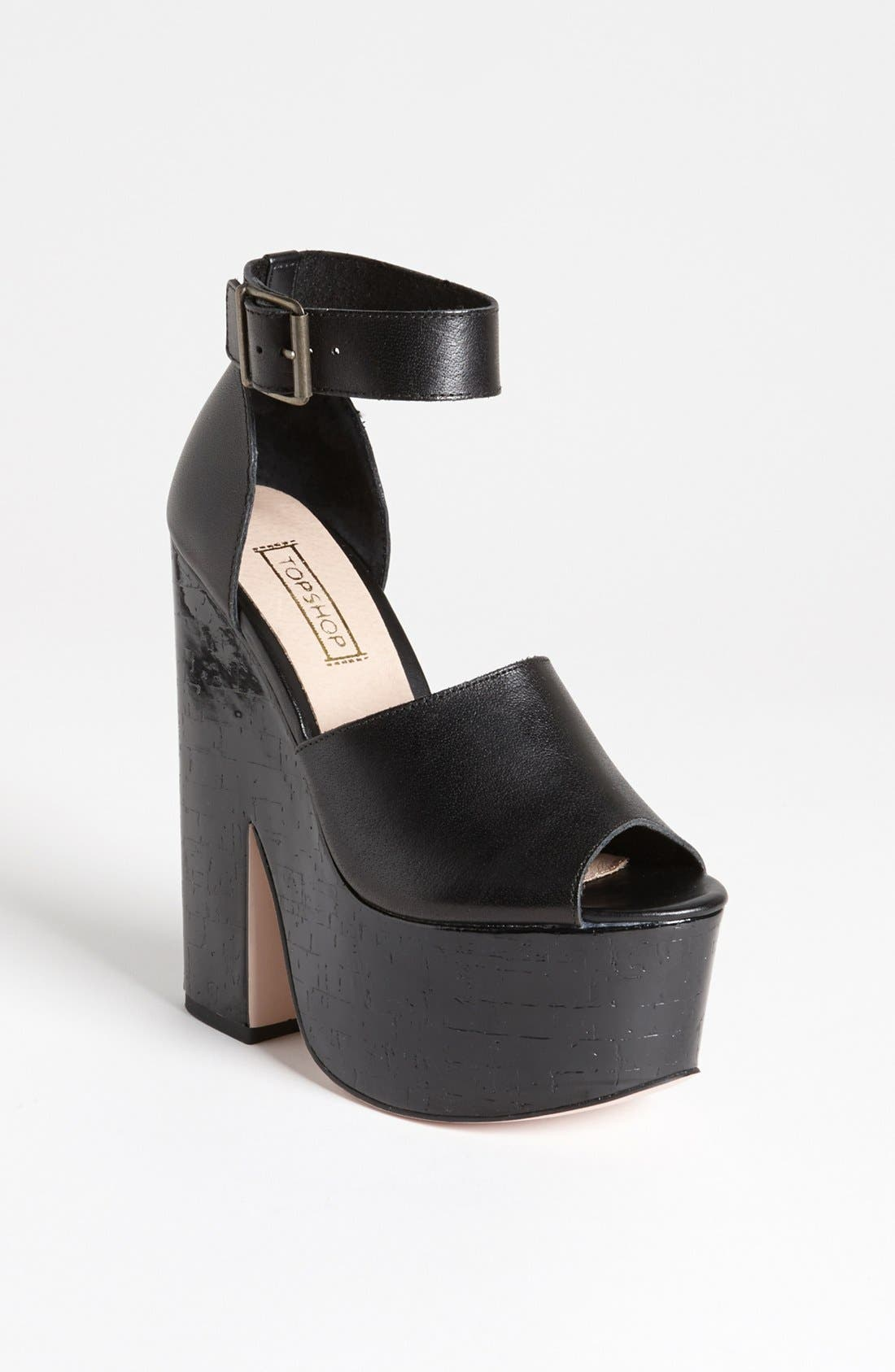 Alternate Image 1 Selected - Topshop 'Loud' Platform Sandal