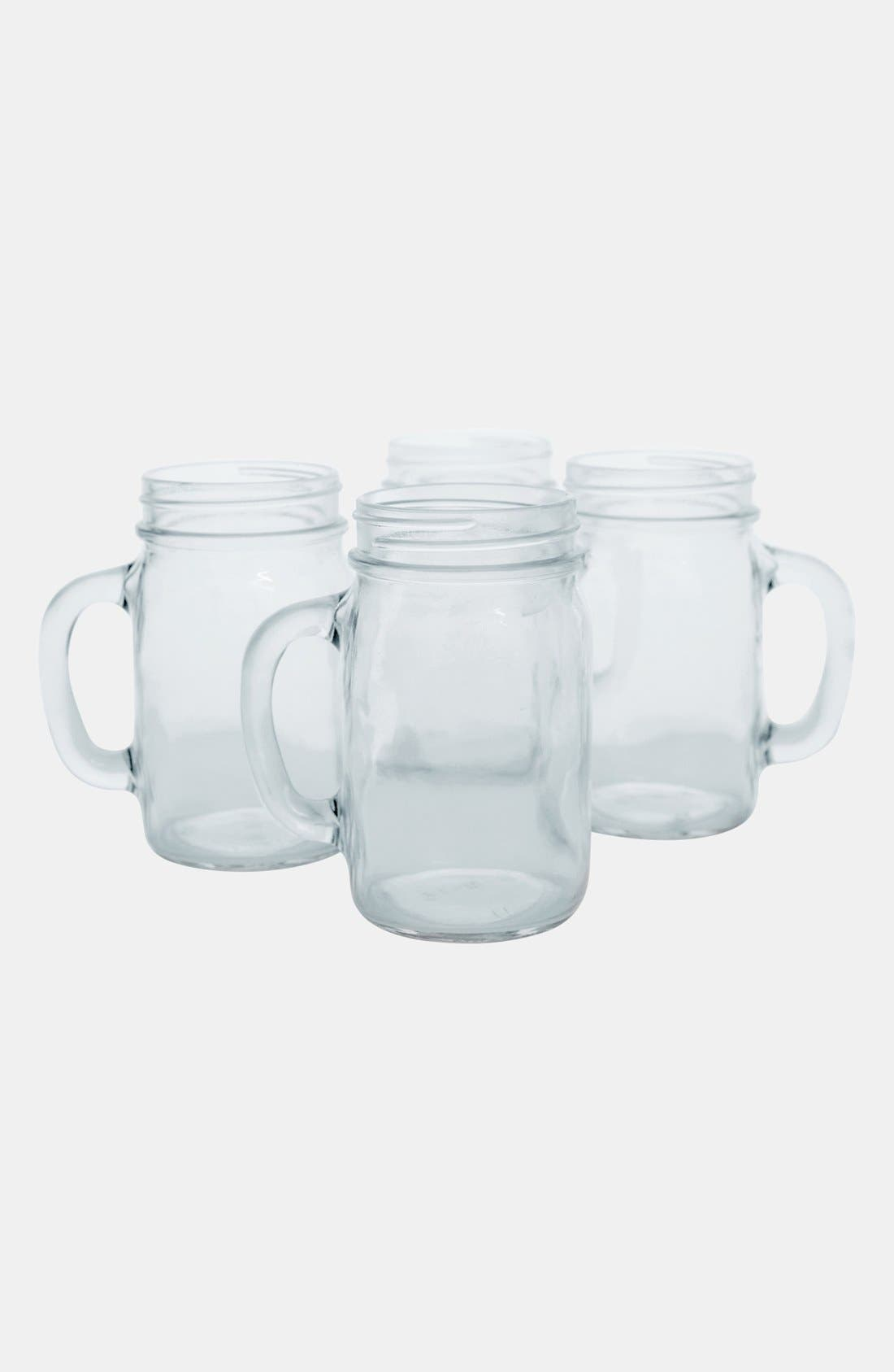 Cathy's Concepts Monogram Glass Drinking Jars (Set of 4)