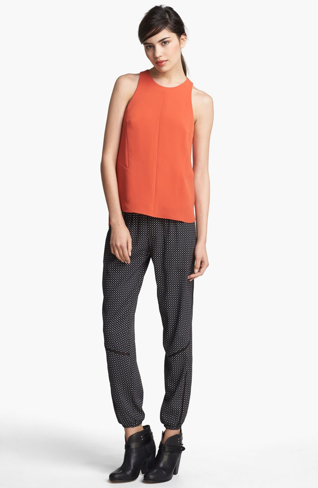 Alternate Image 2  - rag & bone 'Adeline' High/Low Racerback Top