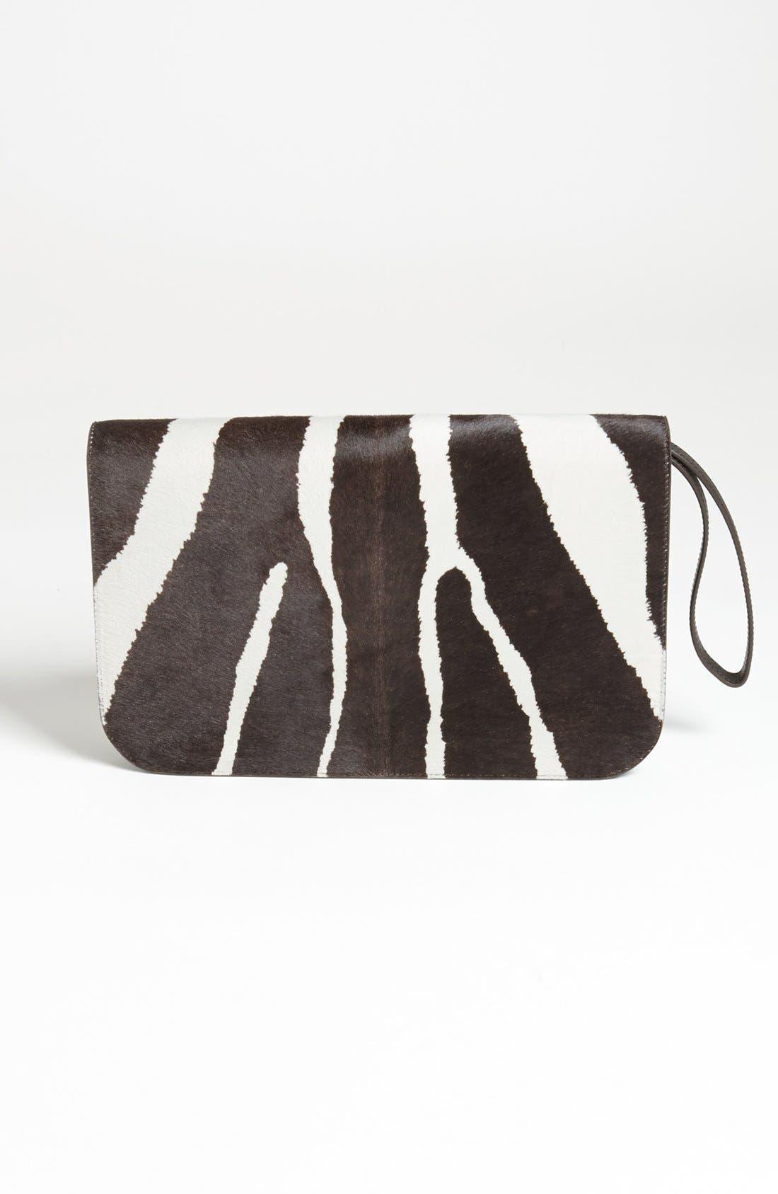 Alternate Image 4  - Fendi '2Jours - Large' Calf Hair & Leather Clutch