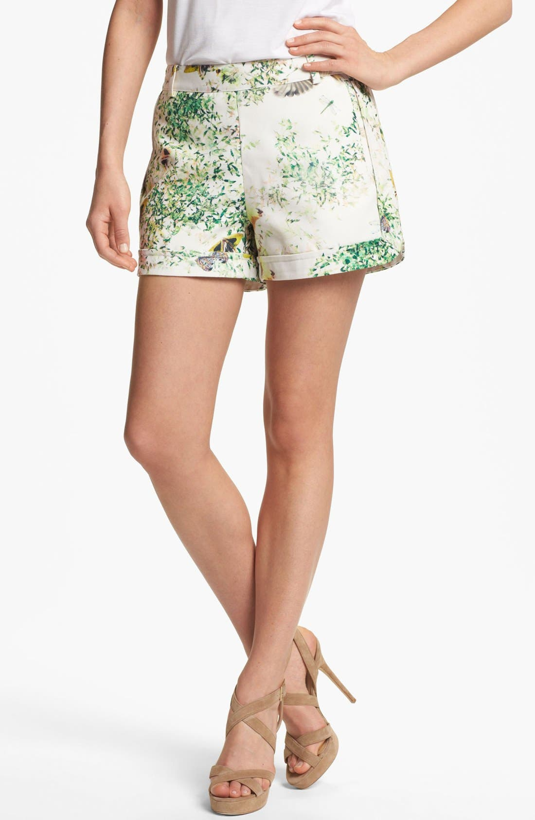 Main Image - Ted Baker London 'Anora - Dancing Leaves' Print Shorts