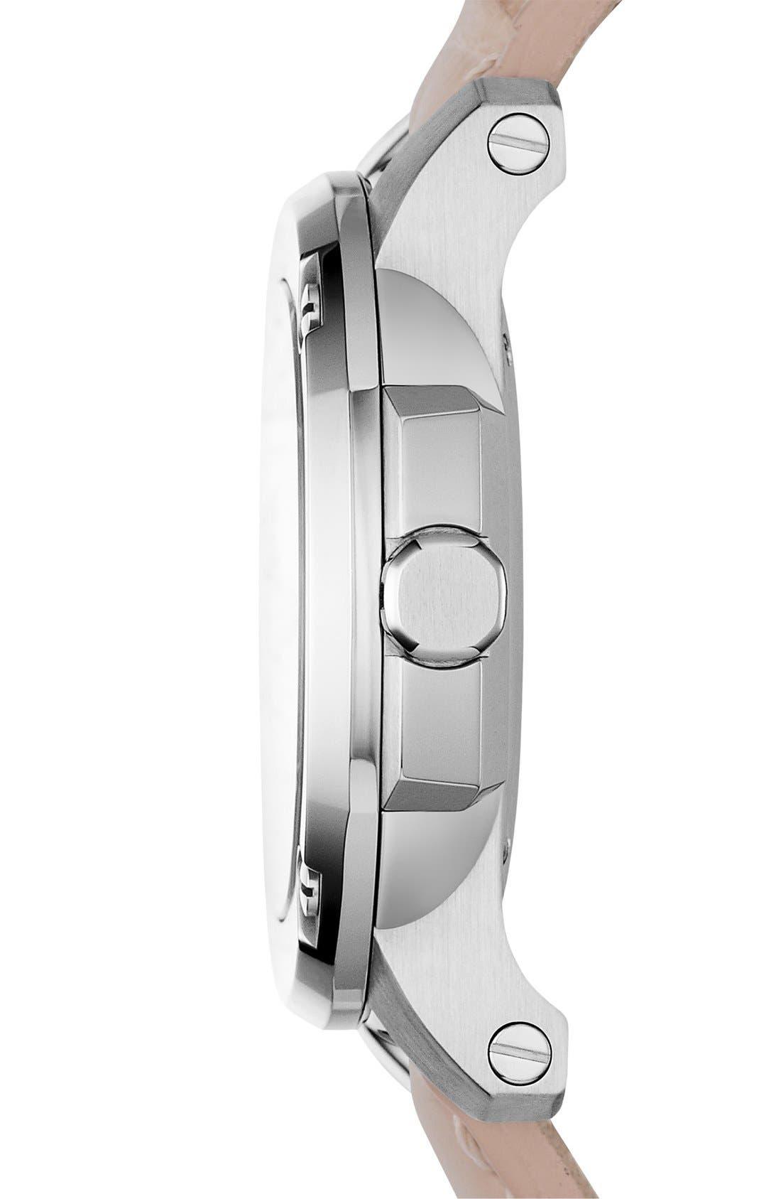 Alternate Image 2  - Burberry The Britain Diamond Dial Alligator Strap Watch, 34mm