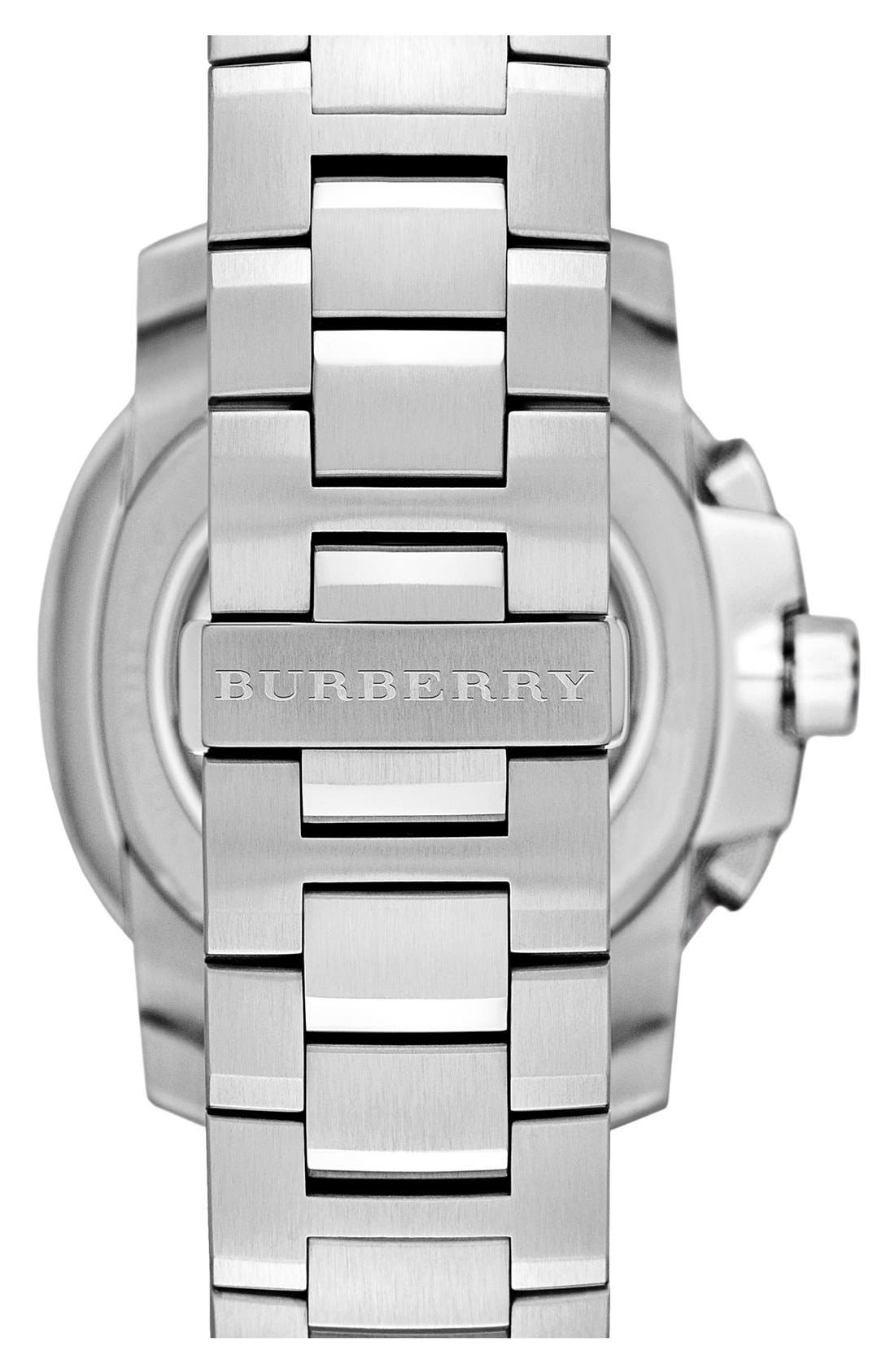 Alternate Image 4  - Burberry The Britain Chronograph Bracelet Watch, 47mm