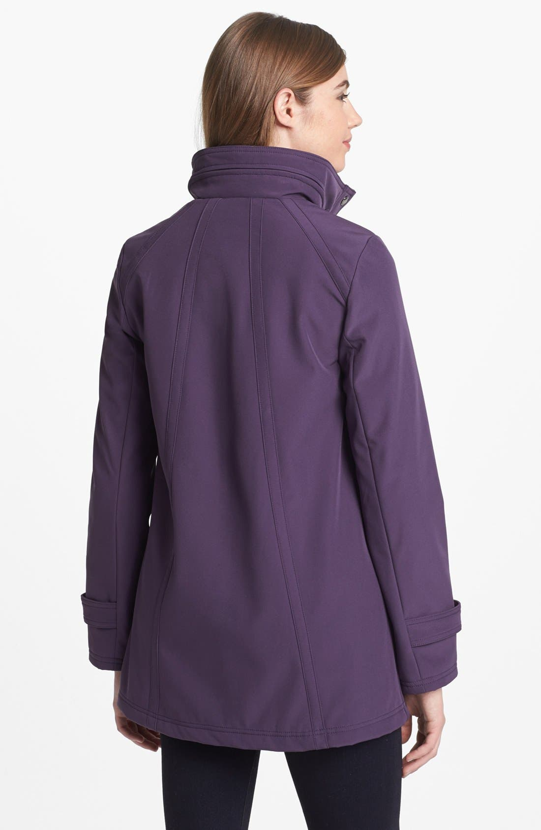Alternate Image 2  - Ellen Tracy Soft Shell A-Line Coat (Regular & Petite)