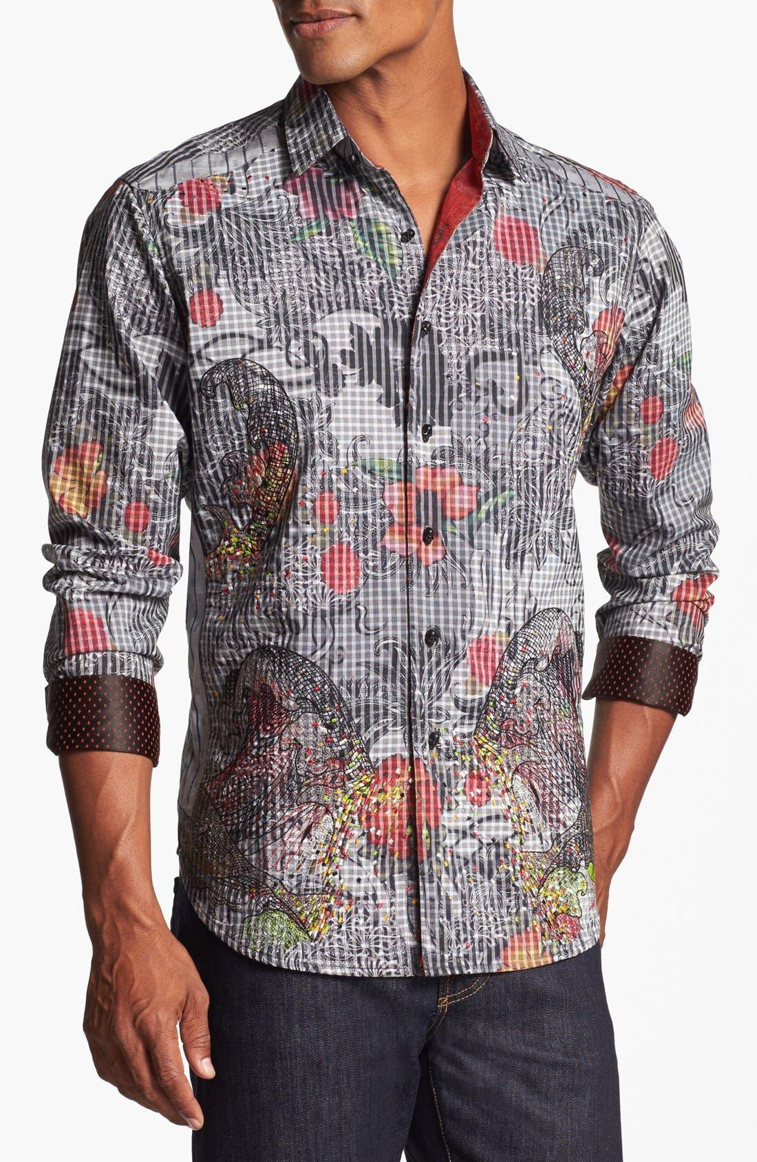 Alternate Image 1 Selected - Robert Graham 'Tequila' Regular Fit Sport Shirt