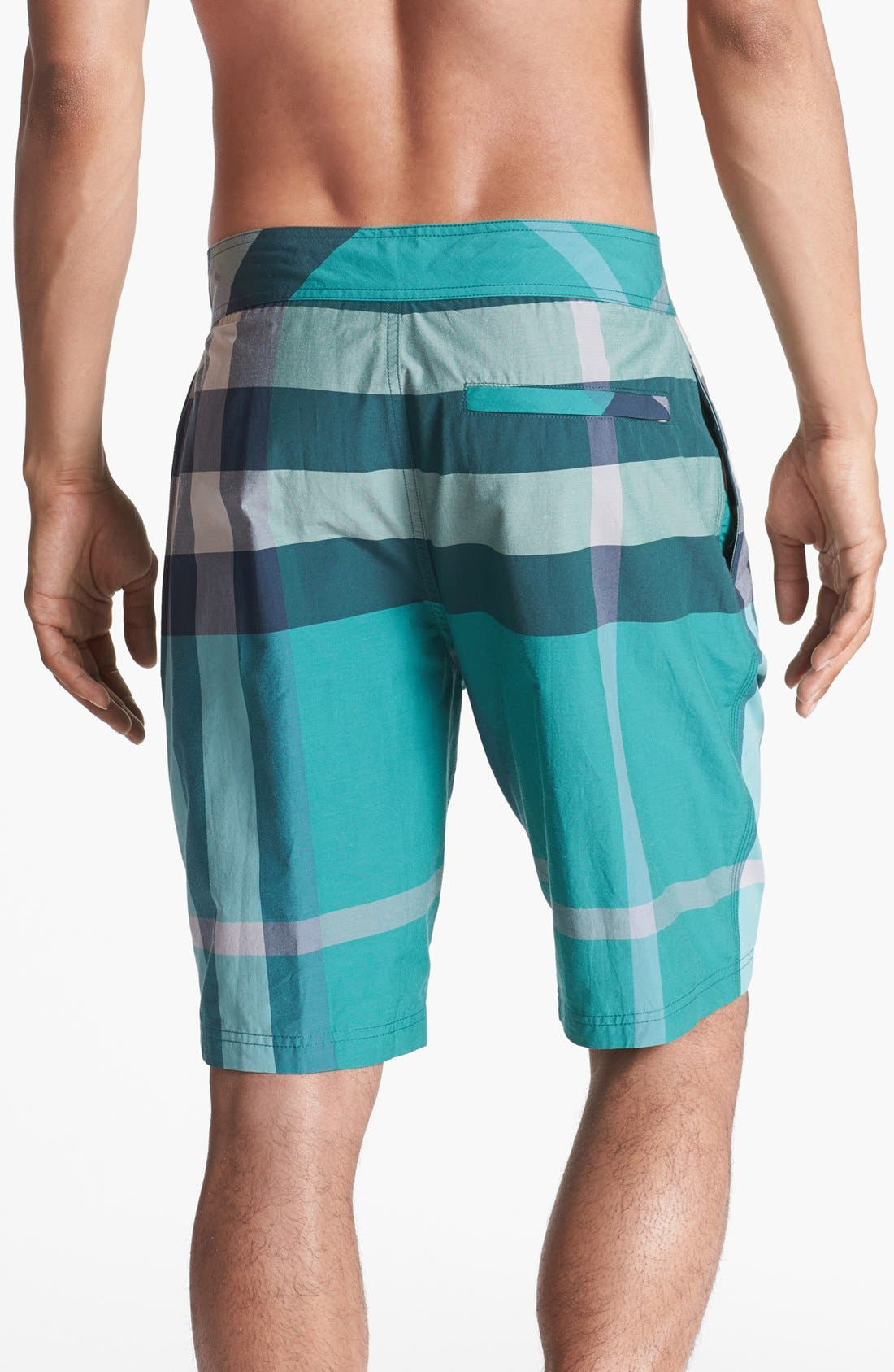 Alternate Image 2  - Burberry Brit Laguna Check Print Board Shorts (Men)
