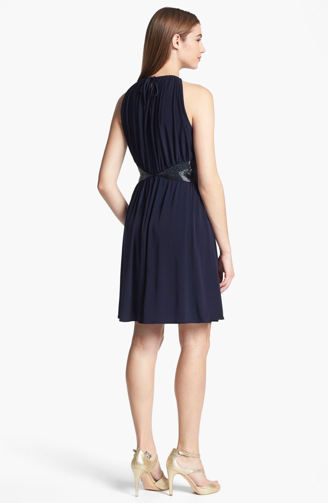 Alternate Image 2  - JS Boutique Embellished Jersey Fit & Flare Dress