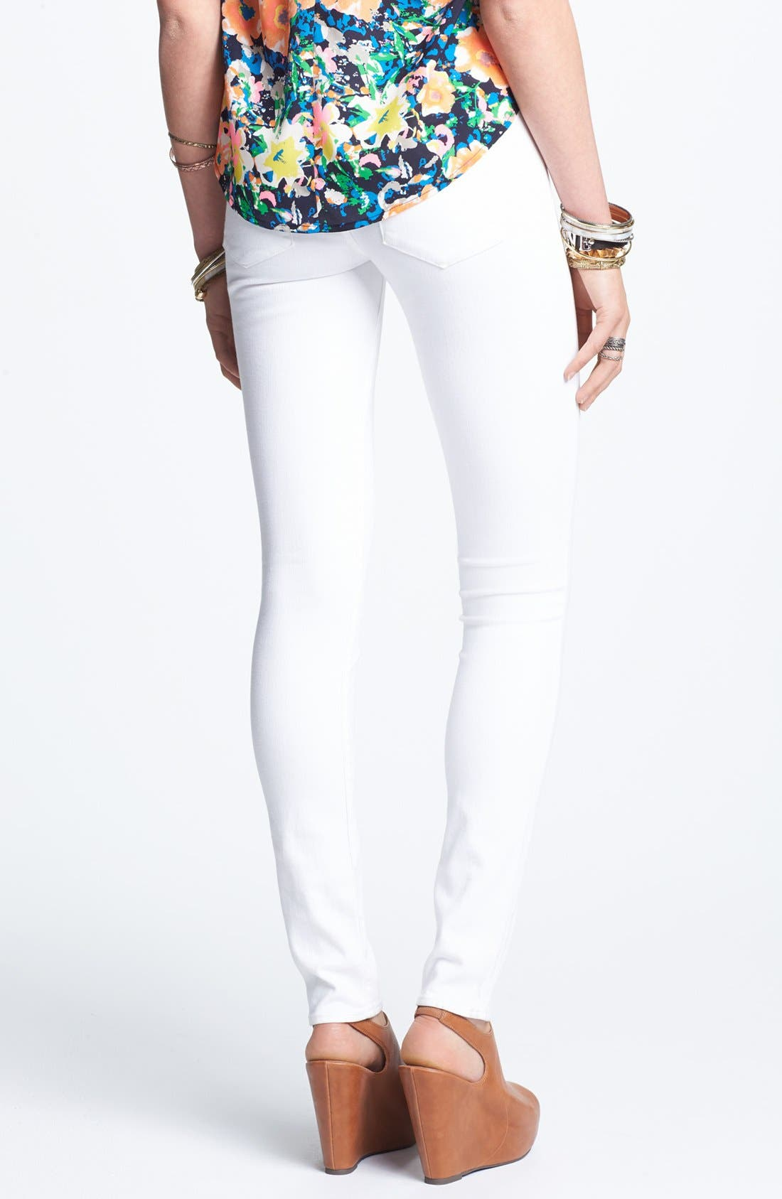 'Mya' Skinny Jeans,                             Alternate thumbnail 2, color,                             White