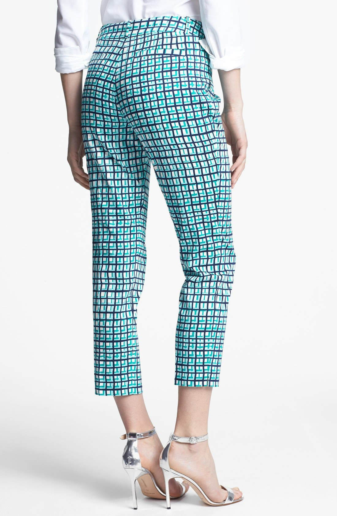 Alternate Image 3  - kate spade new york 'davis' check capri pants