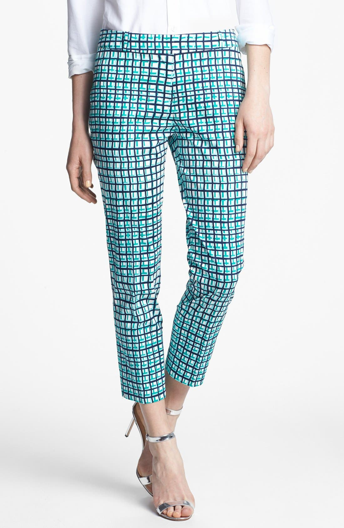 Alternate Image 1 Selected - kate spade new york 'davis' check capri pants