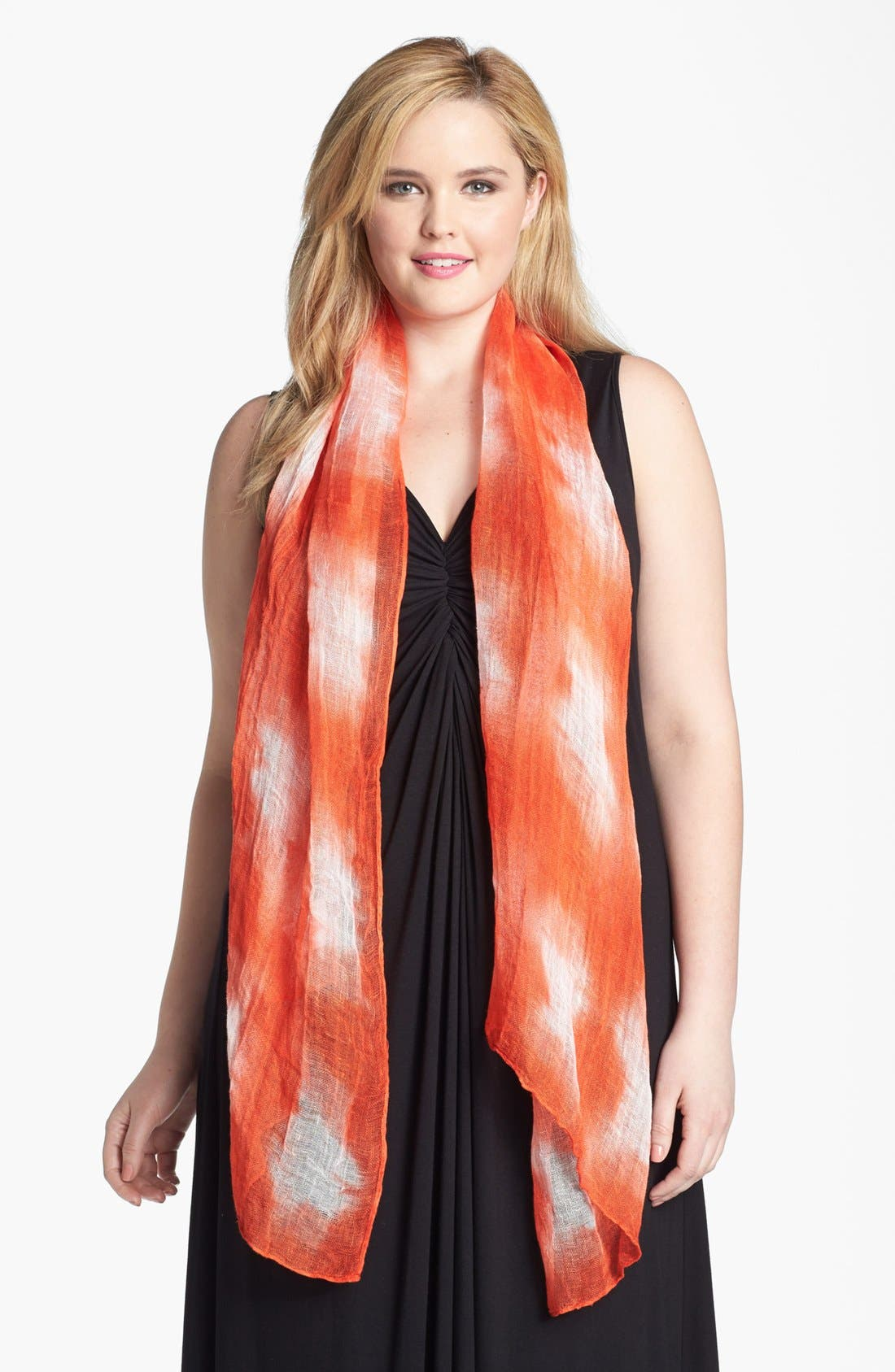 Linen Scarf,                         Main,                         color, Firefly