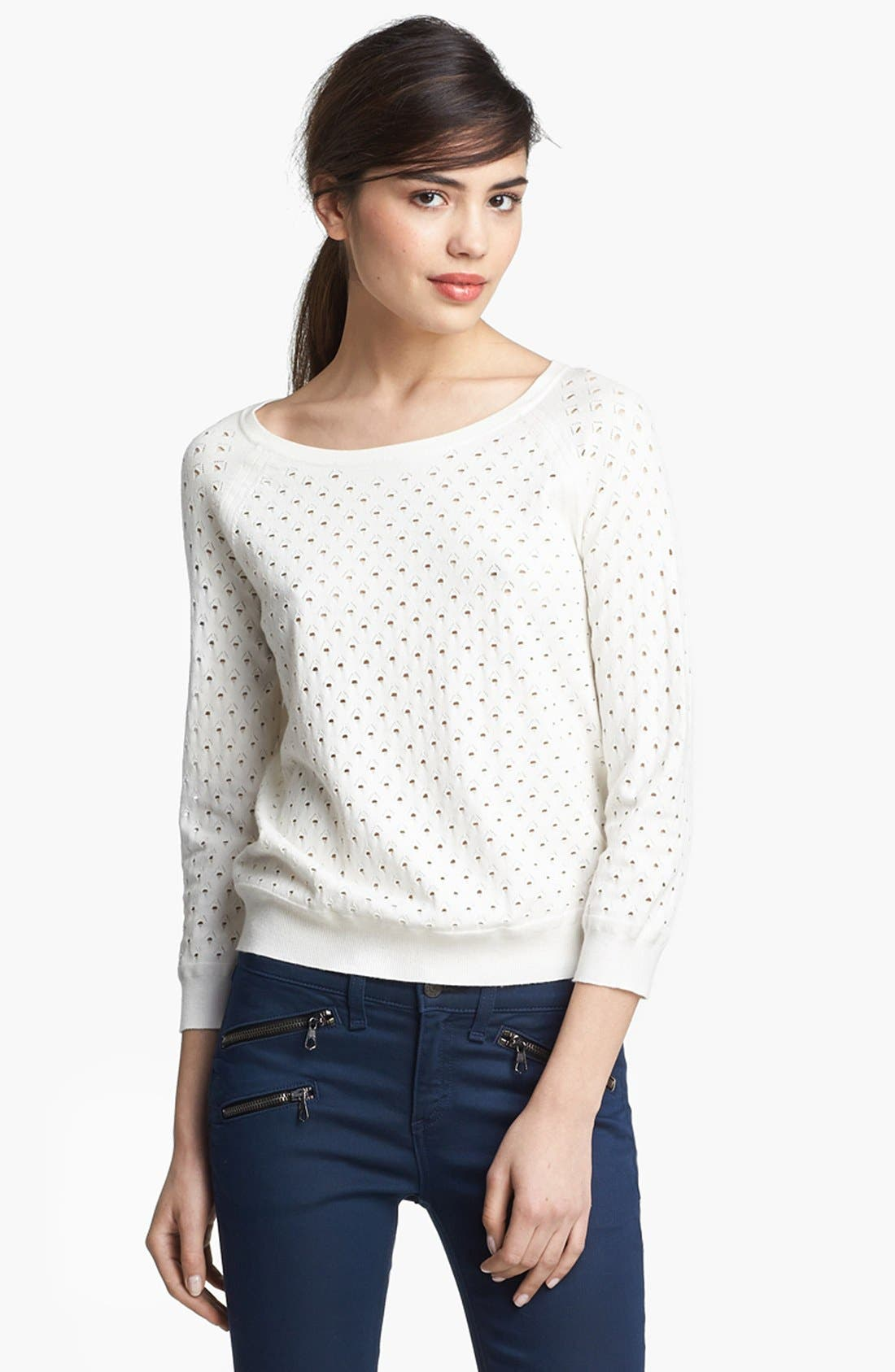 Alternate Image 1 Selected - rag & bone 'Gianna' Perforated Pullover