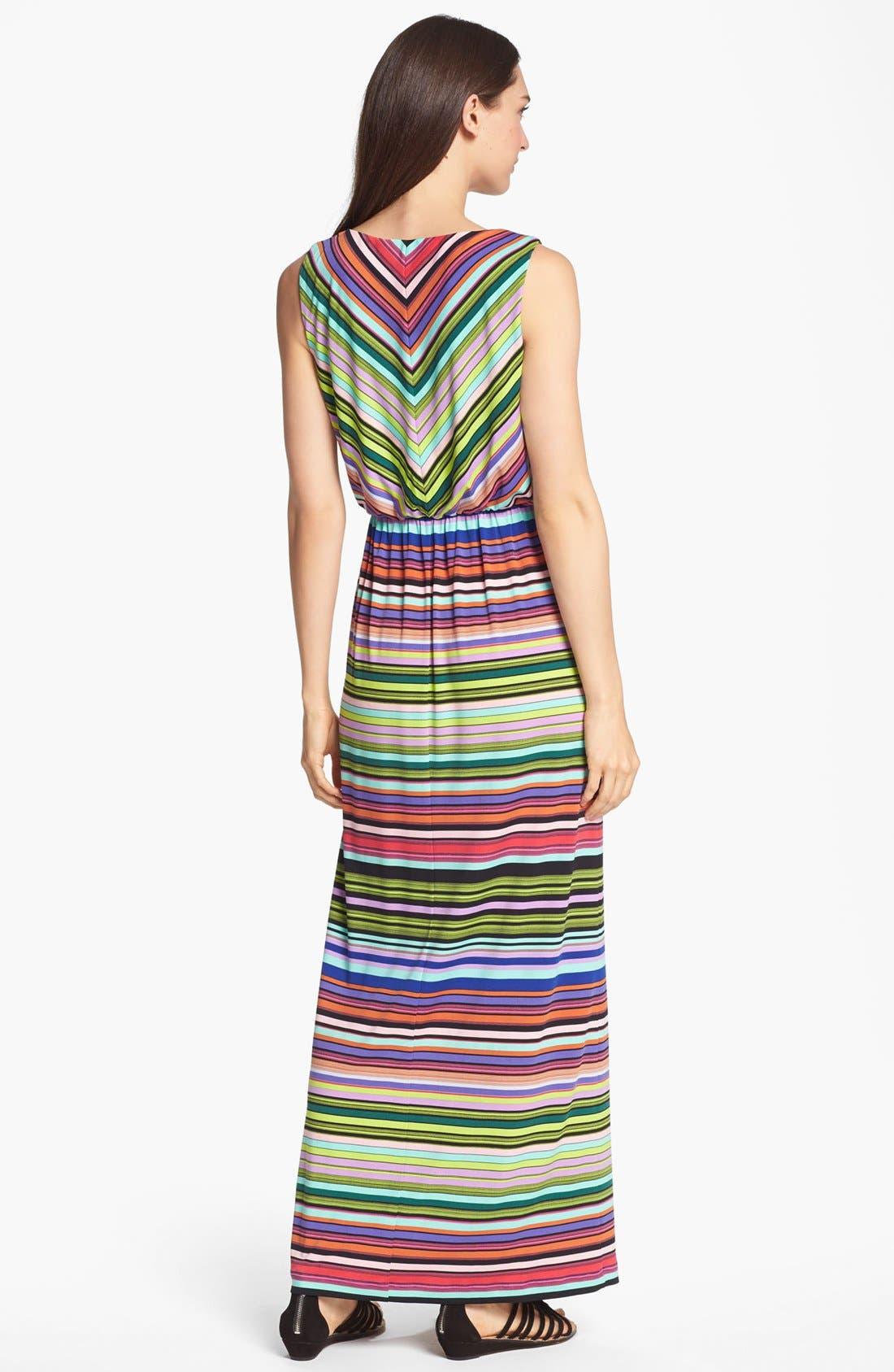 Alternate Image 2  - Ivy & Blu Stripe Jersey Maxi Dress