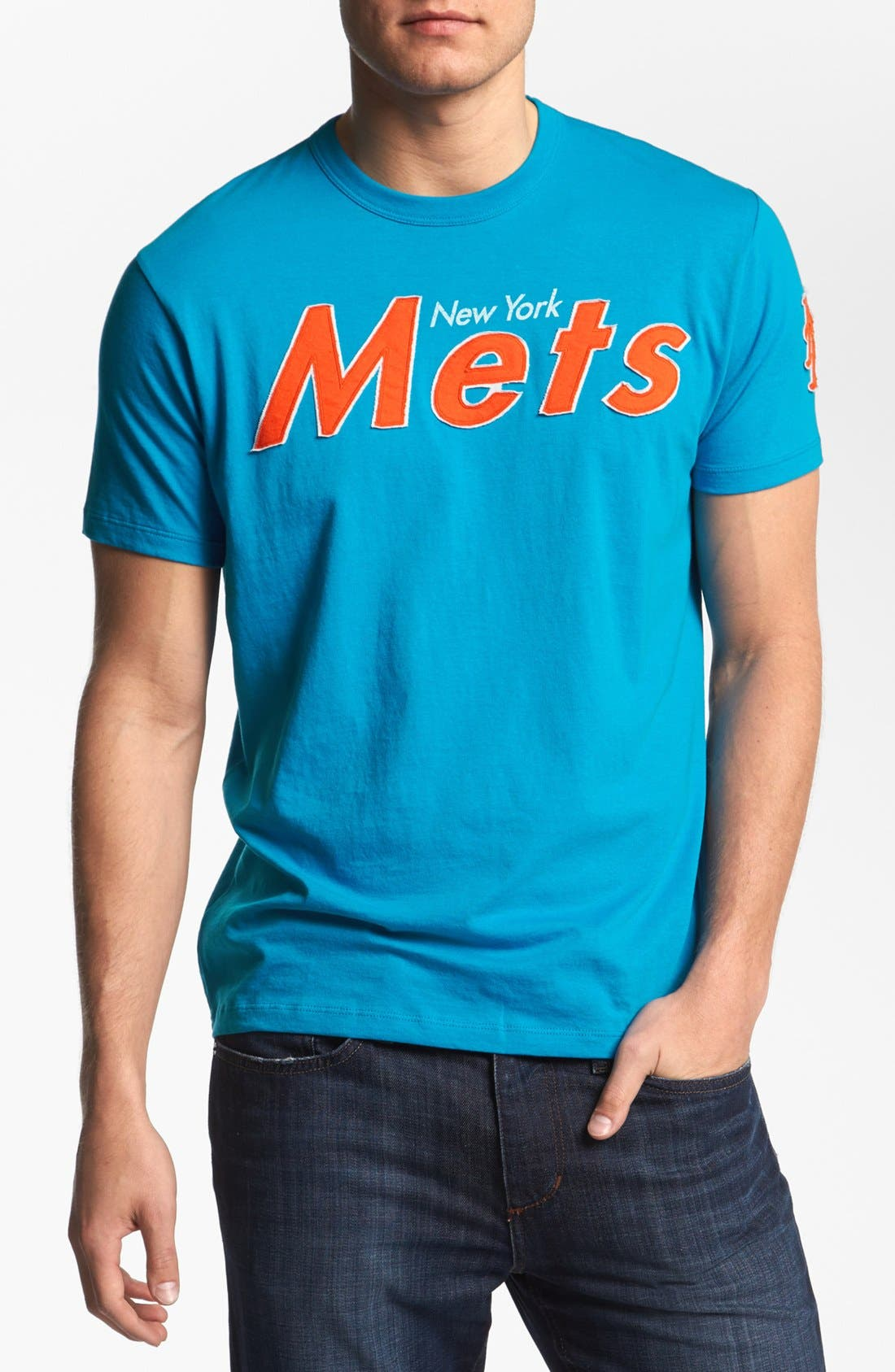 'New York Mets - Fieldhouse' T-Shirt,                             Main thumbnail 1, color,                             Glacier