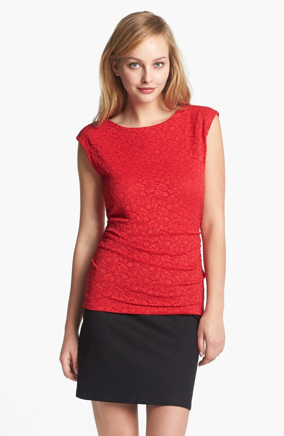 Alternate Image 1 Selected - Vince Camuto Lace Top