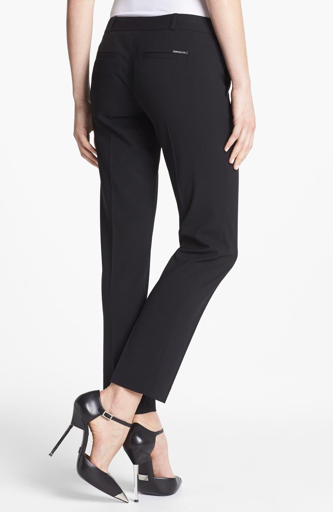 Alternate Image 2  - MICHAEL Michael Kors 'Miranda' Stretch Ankle Pants (Regular & Petite)