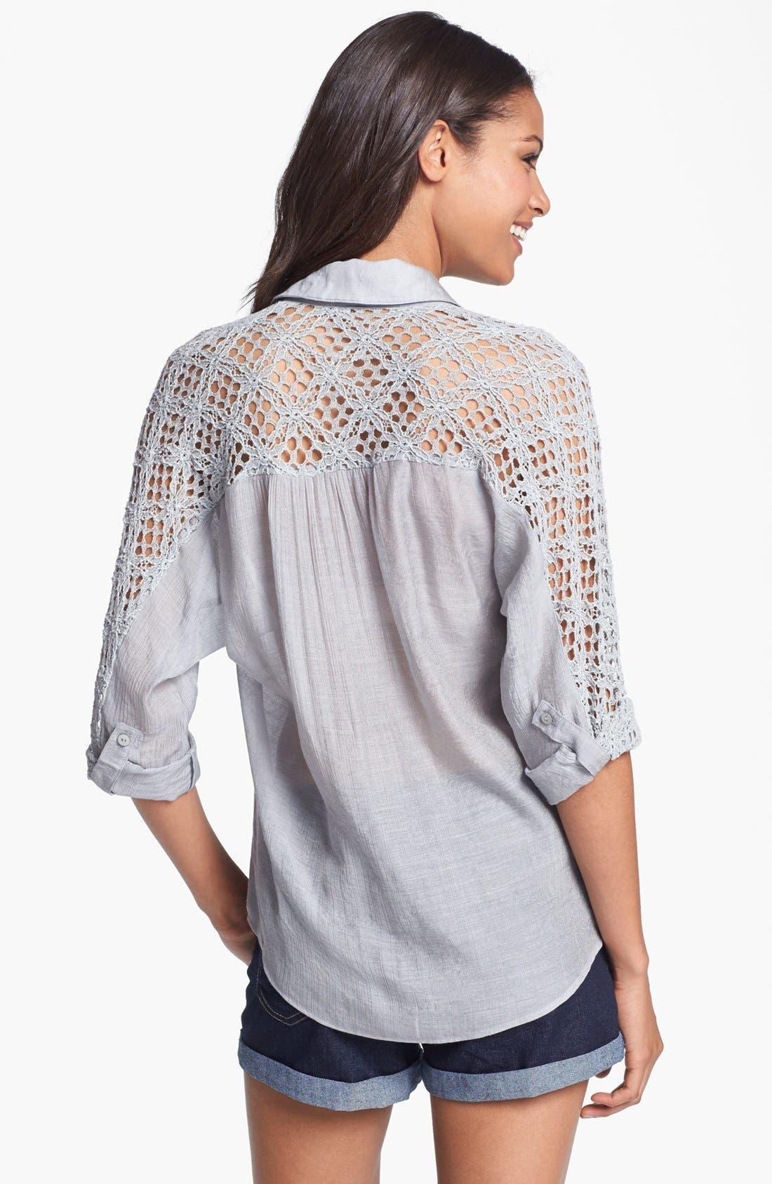 Alternate Image 2  - KUT from the Kloth 'Leana' Lace Trim Shirt