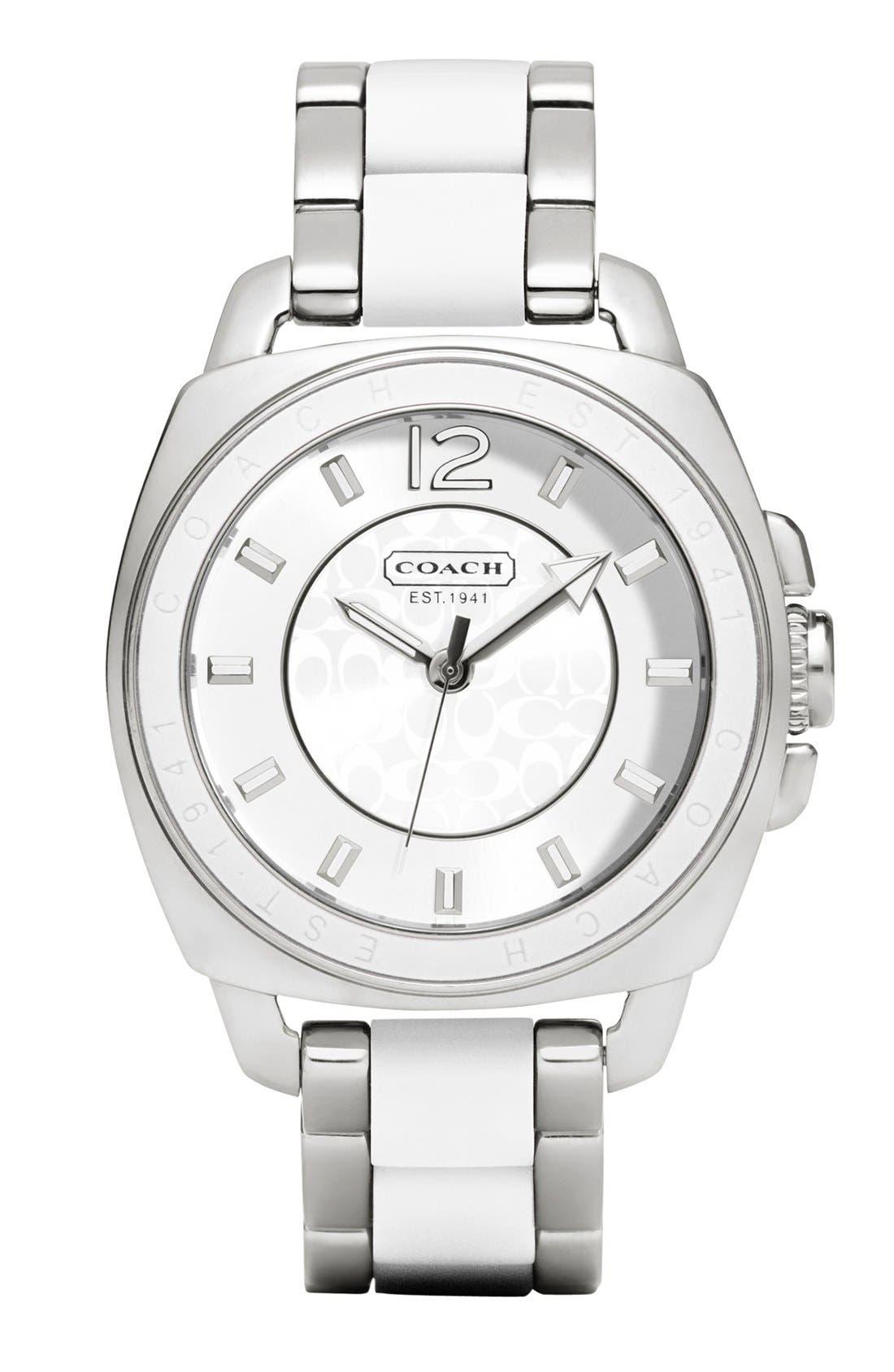 Main Image - COACH 'Boyfriend' Silicone Bezel Bracelet Watch