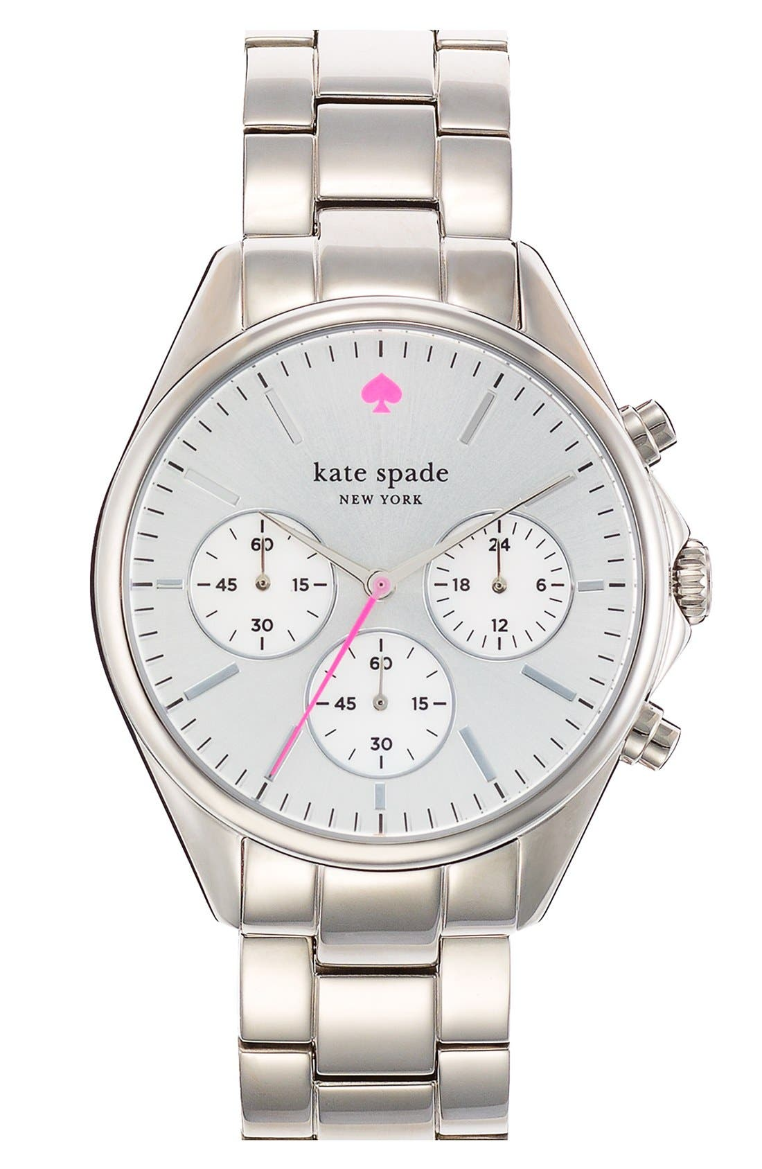 Alternate Image 1 Selected - kate spade new york 'seaport' chronograph bracelet watch, 38mm