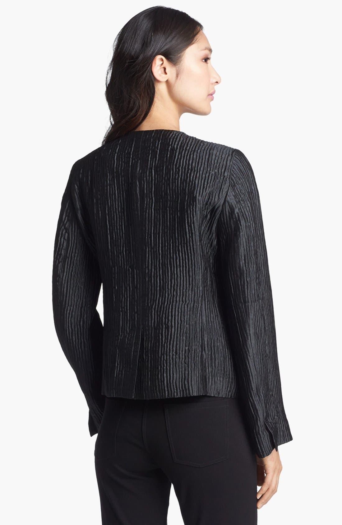 Alternate Image 2  - Eileen Fisher Textured Silk Blend Jacket