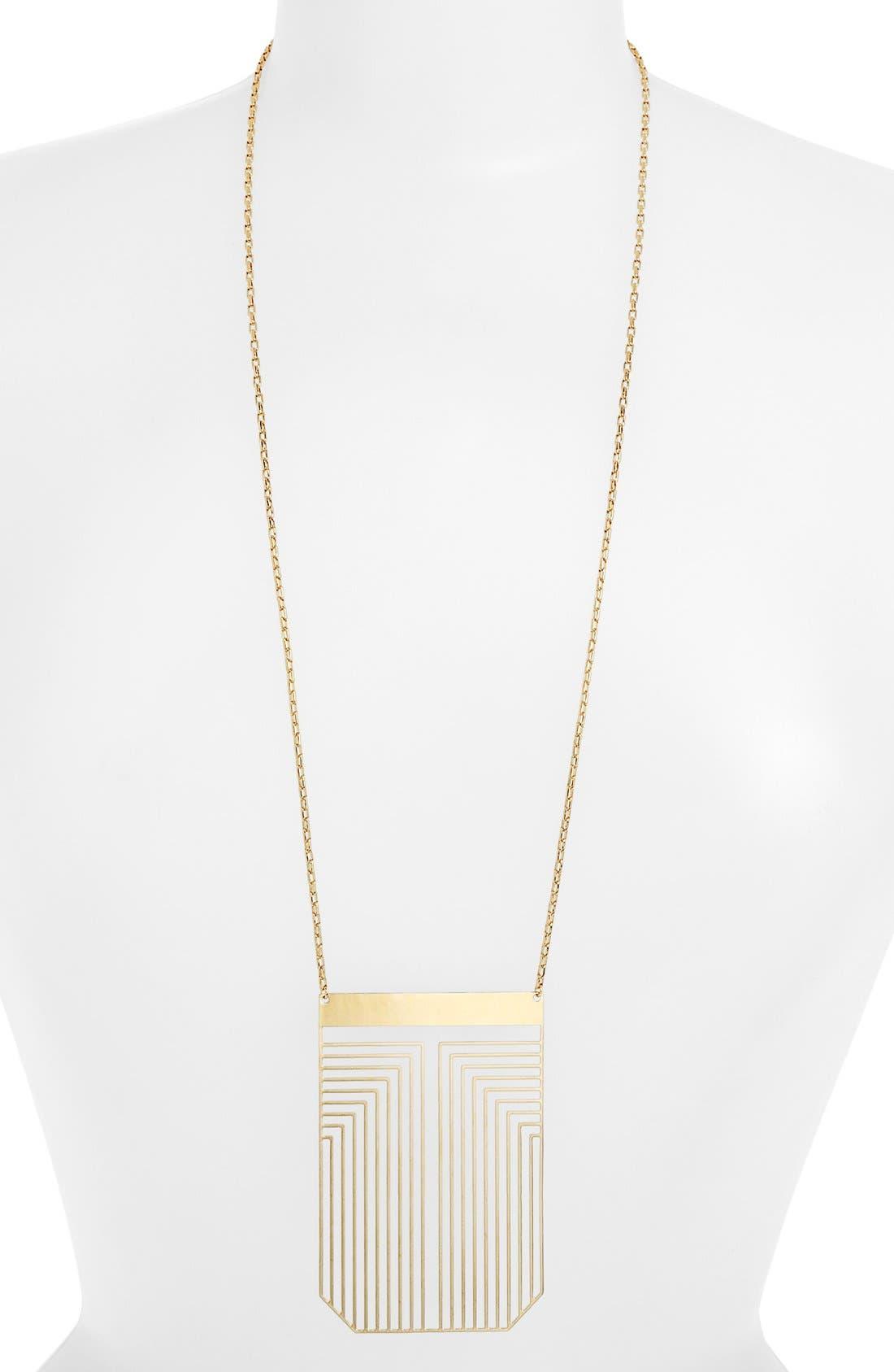 Alternate Image 2  - Tory Burch 'Frete' Long Pendant Necklace