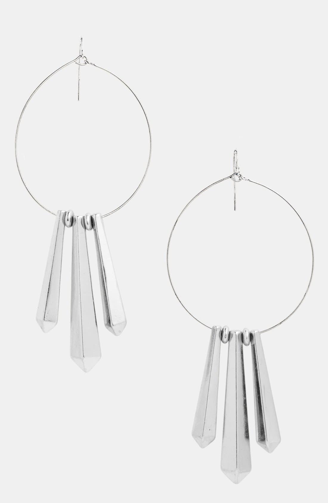 Alternate Image 1 Selected - Panacea Hoop Earrings