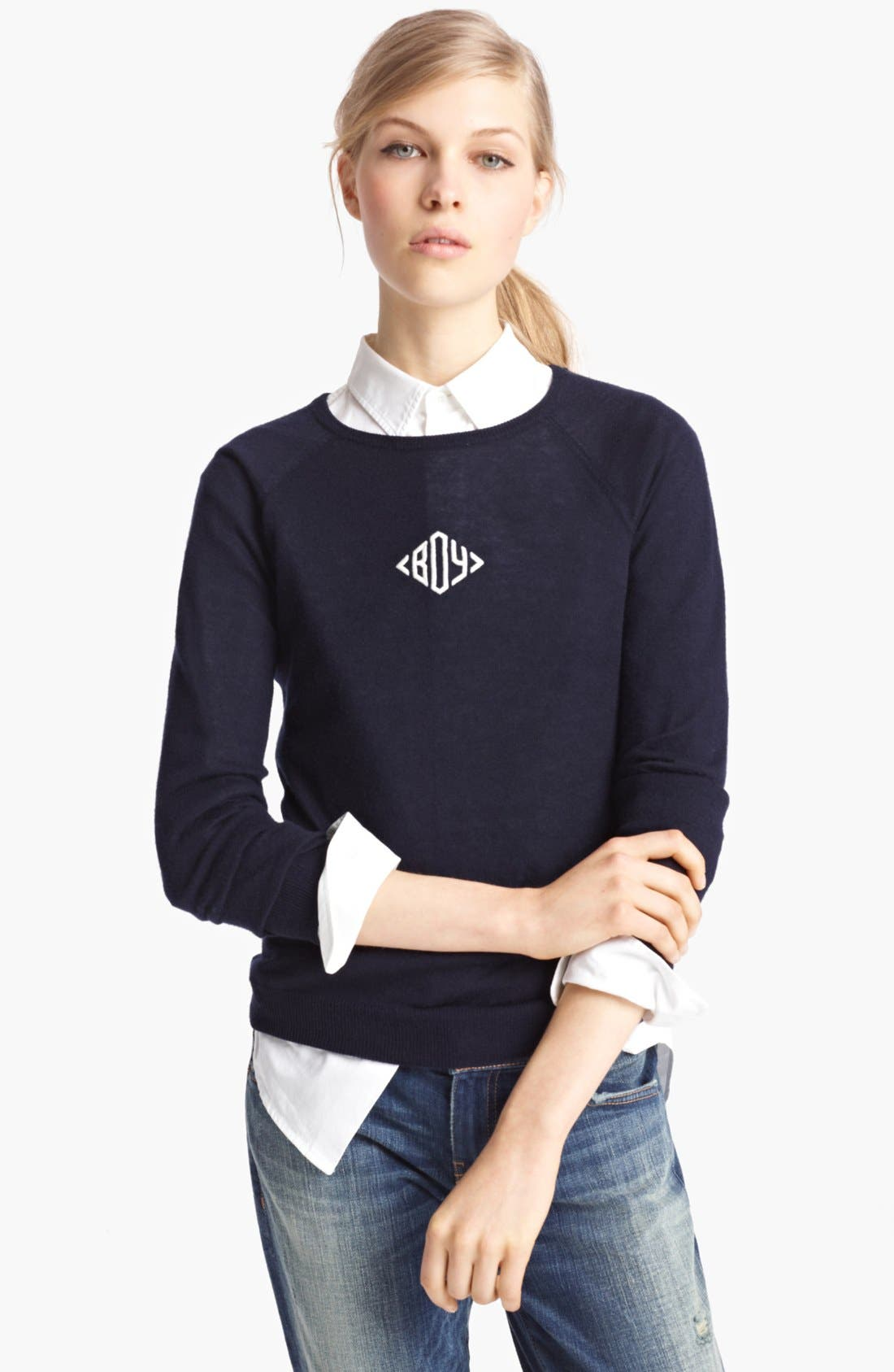 Alternate Image 1 Selected - Band of Outsiders Silk & Cashmere Sweater