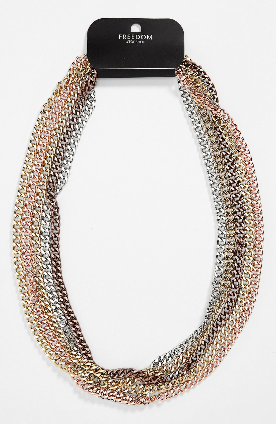 Main Image - Topshop Multi Chain Necklace