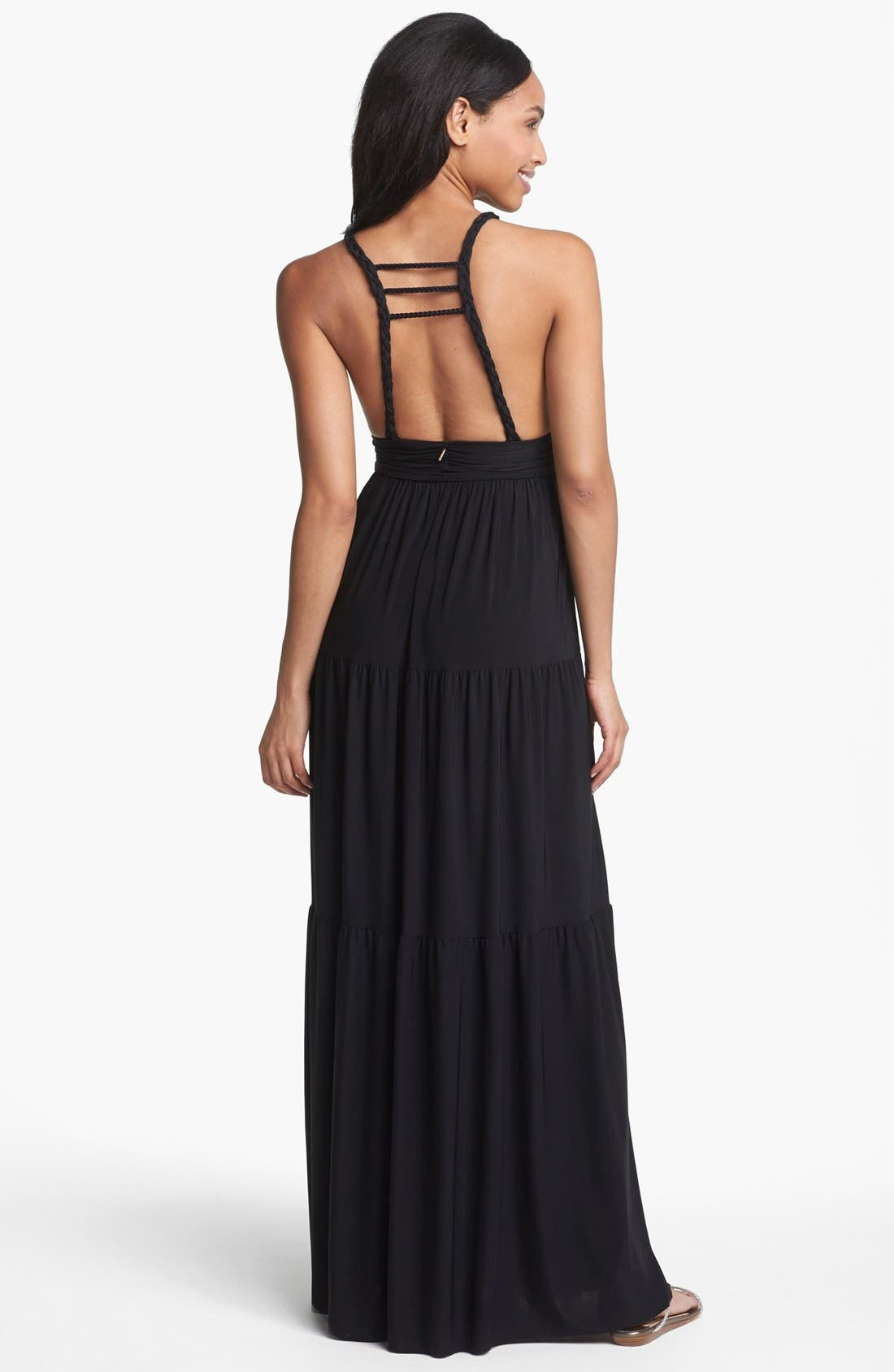 Alternate Image 2  - Tbags Los Angeles Back Detail Jersey Maxi Dress