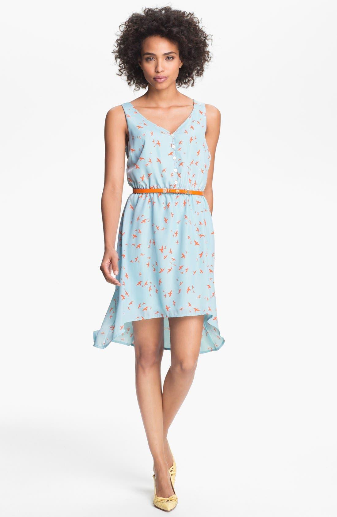 Alternate Image 1 Selected - Olive & Oak Bird Print High/Low Dress