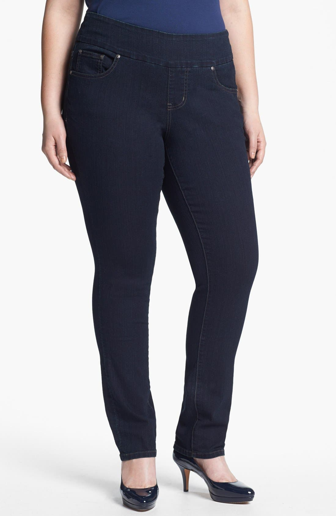 Main Image - Jag Jeans 'Malia' Slim Leg Jeans (Plus Size)