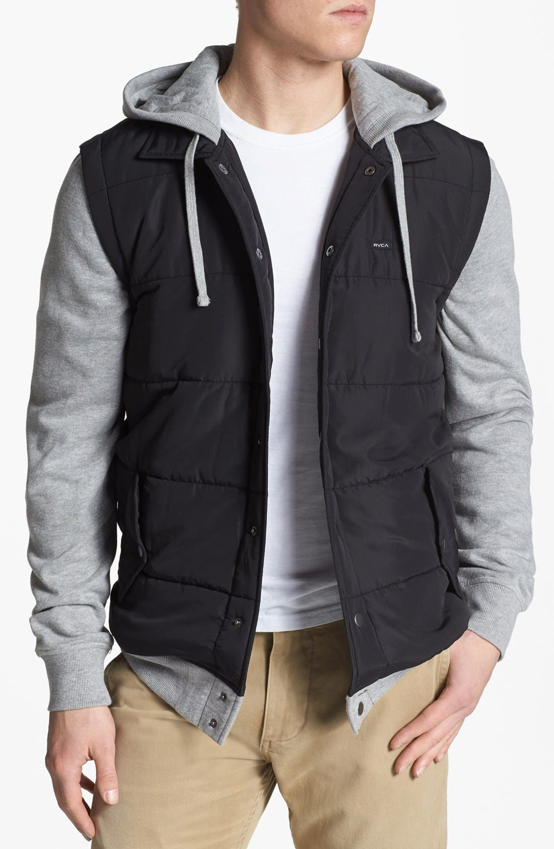 Alternate Image 1 Selected - RVCA Puffer Hooded Jacket