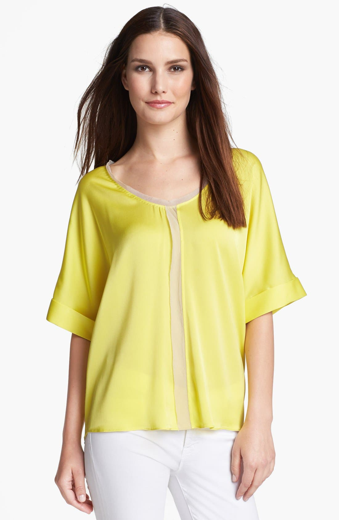 Main Image - Elie Tahari 'Charity' Stretch Silk Blouse