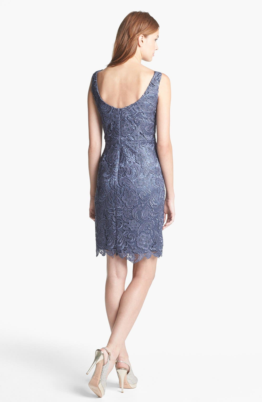 Alternate Image 2  - Patra Sleeveless Lace Sheath Dress