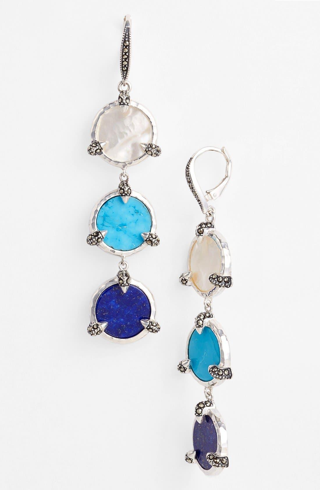 Main Image - Judith Jack 'Coin' Linear Earrings