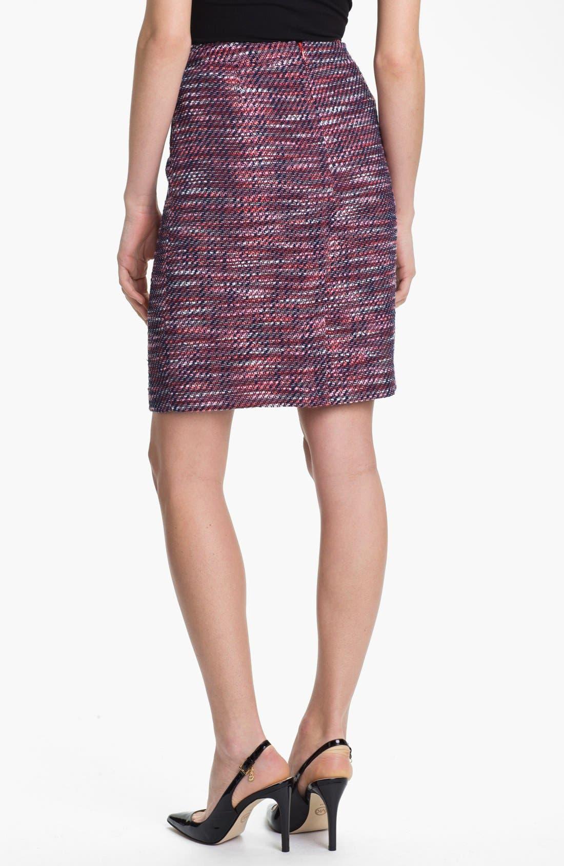 Alternate Image 2  - Halogen® Tweed Pencil Skirt (Petite)
