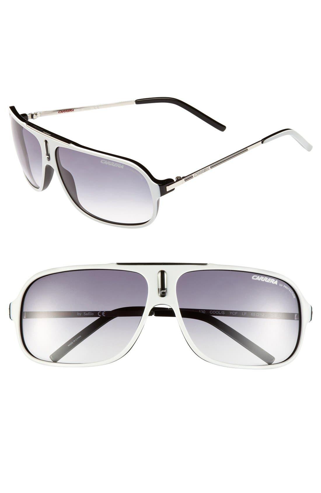 Alternate Image 1 Selected - Carrera Eyewear 'Cool' 61mm Vintage Inspired Aviator Sunglasses