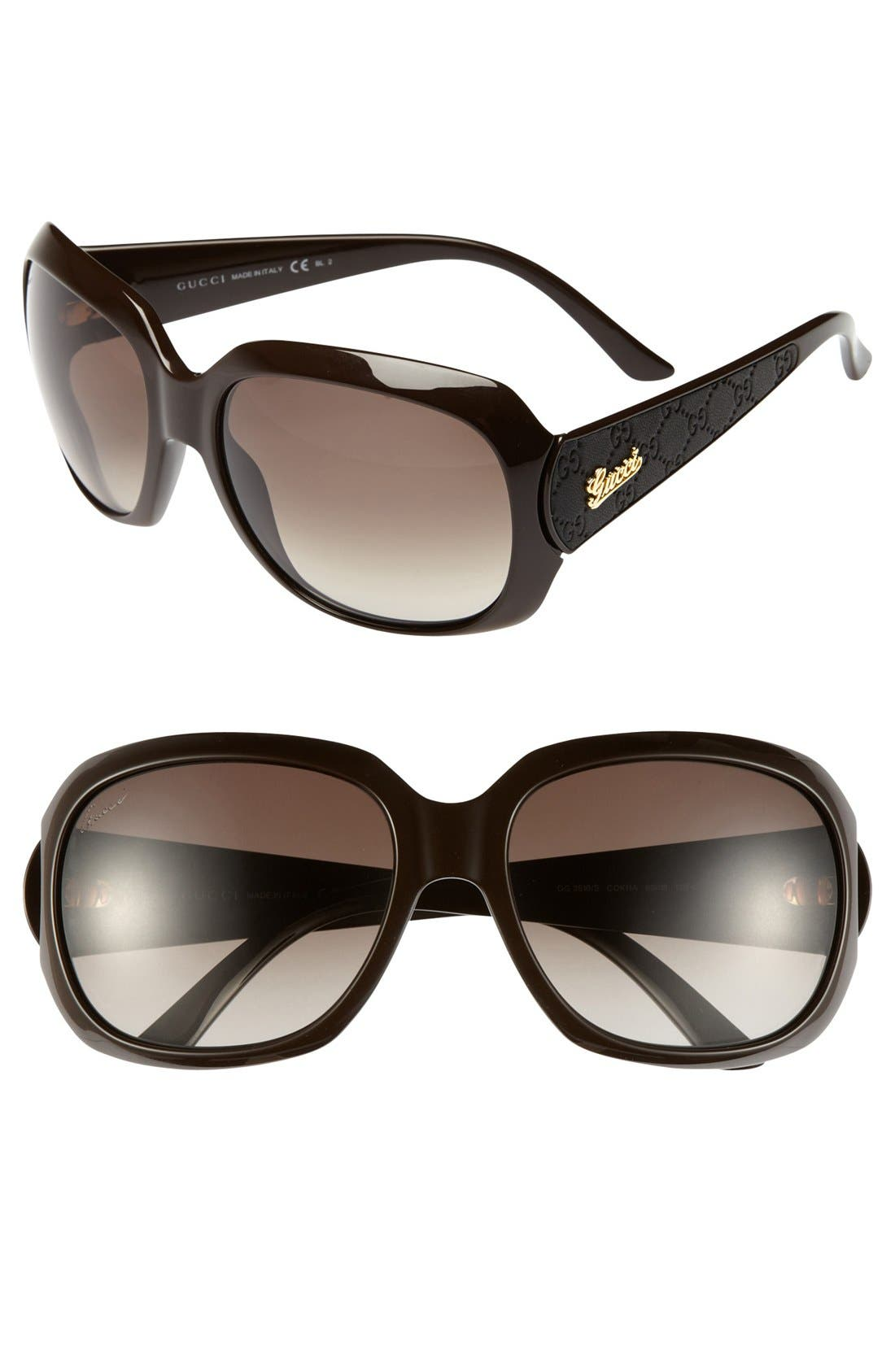 Main Image - Gucci 60mm Sunglasses (Online Only)