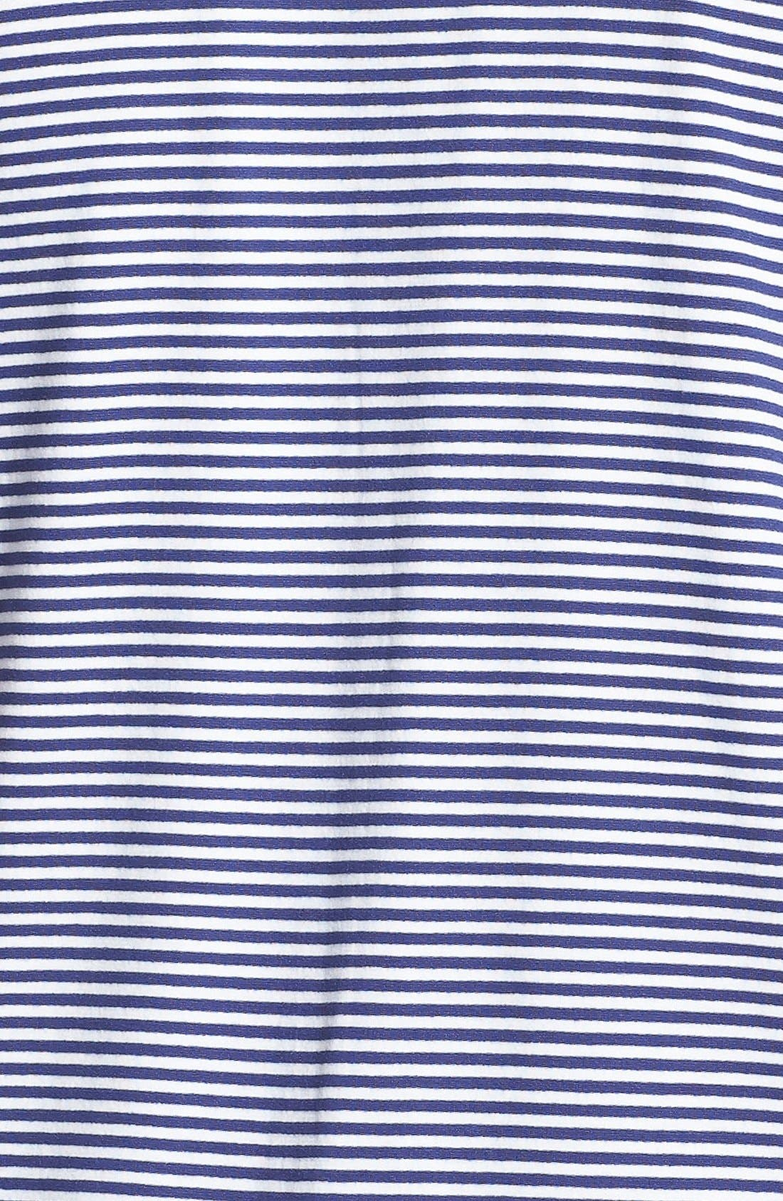 Alternate Image 3  - Sejour Mitered Stripe V-Neck Tee (Plus Size)