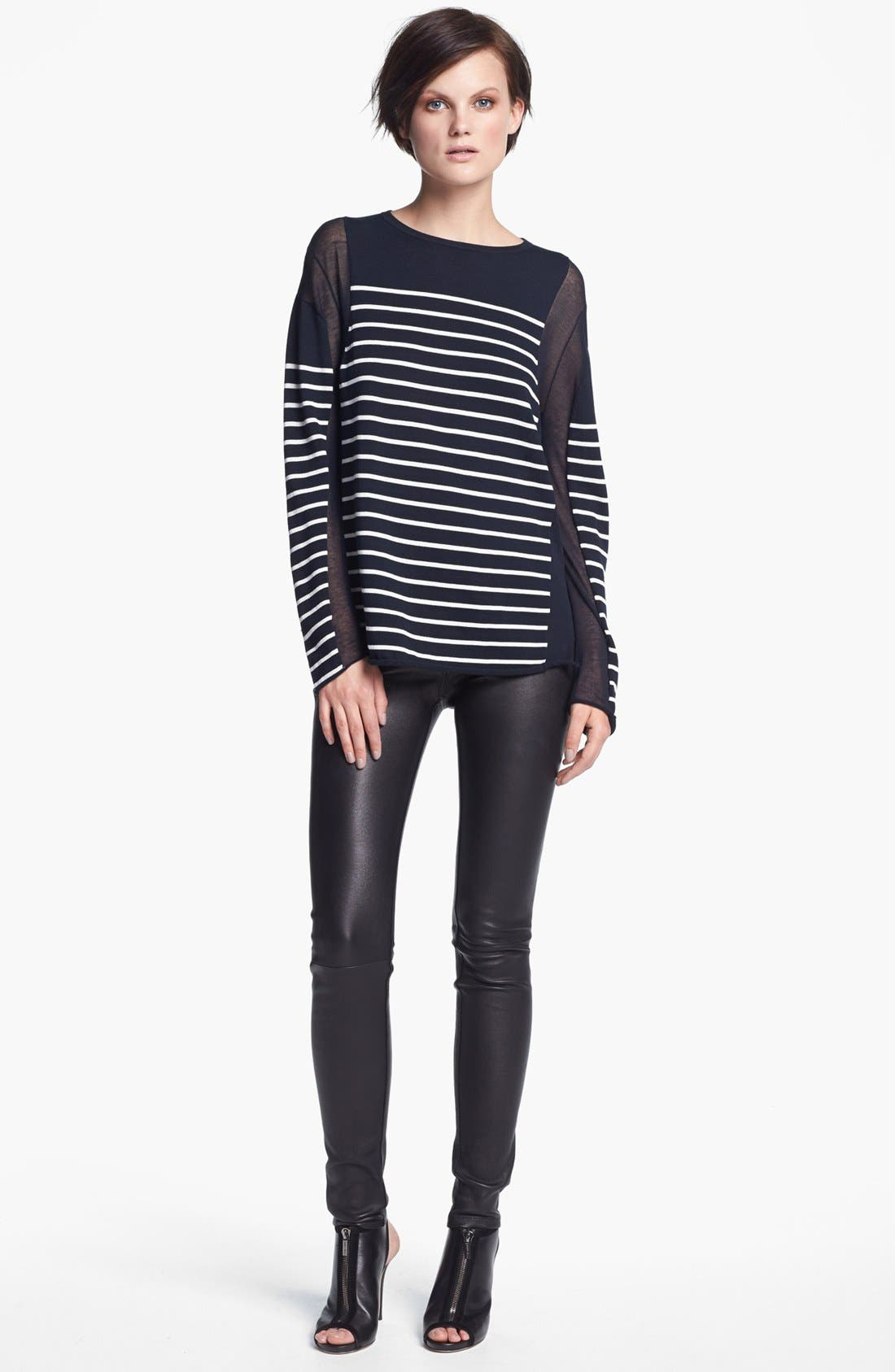 Alternate Image 3  - T by Alexander Wang Stretch Leather Pants