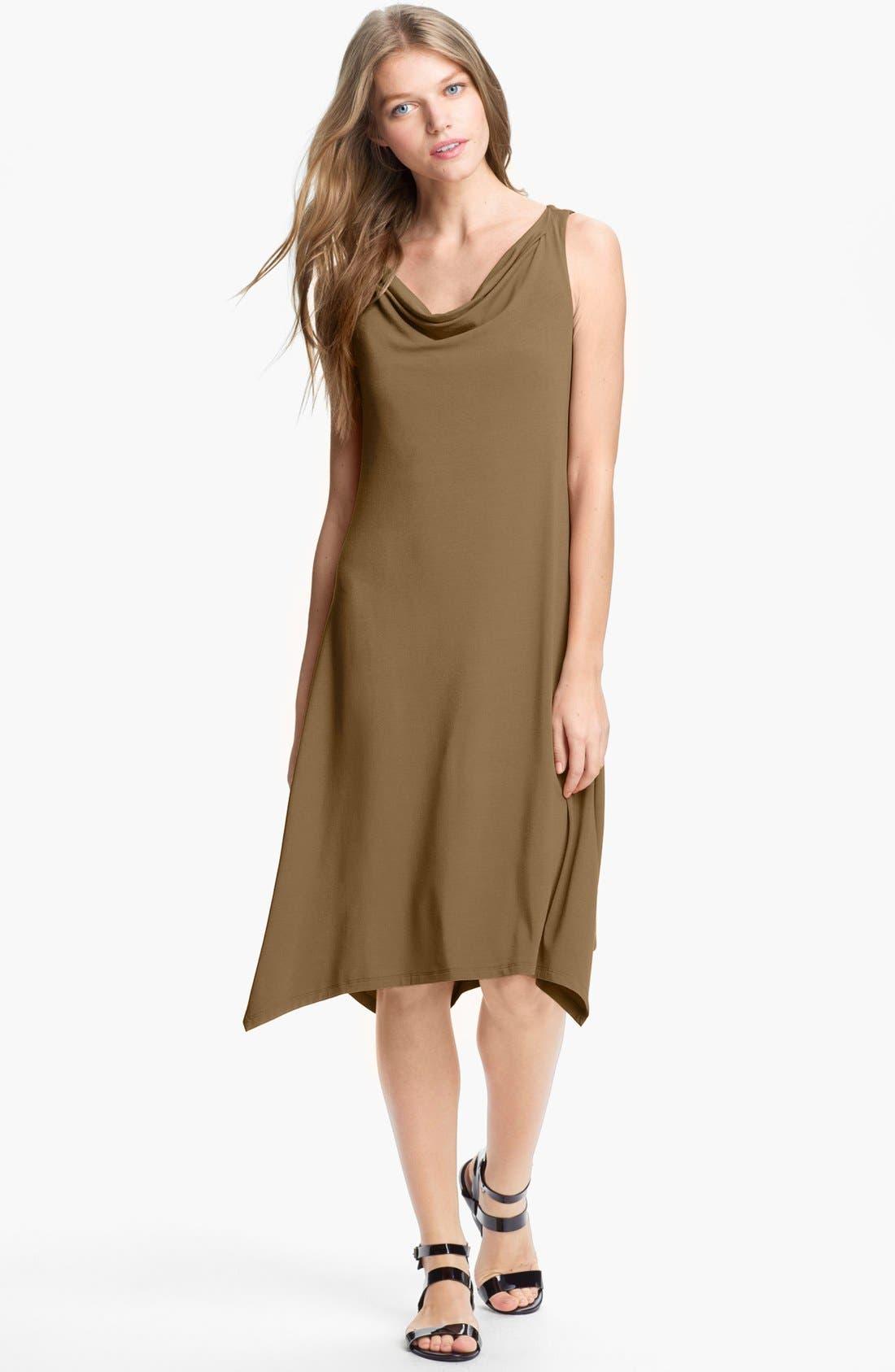 Alternate Image 1 Selected - Eileen Fisher Cowl Neck Dress (Regular & Petite)