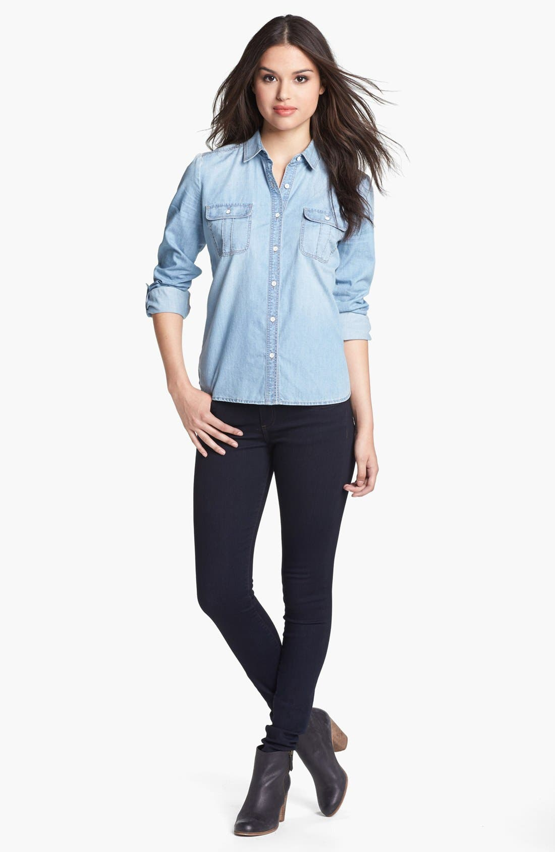 Alternate Image 1 Selected - Halogen® Chambray Shirt
