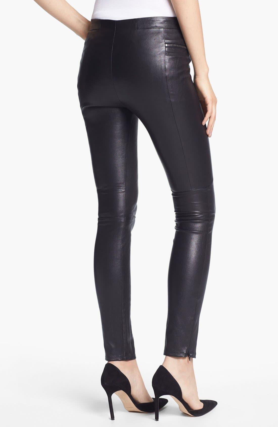 Alternate Image 2  - J Brand Ready-to-Wear 'Minette' Stretch Leather Pants