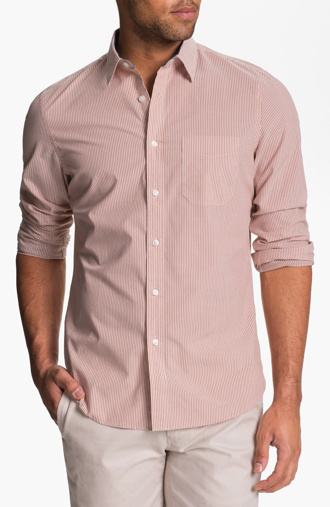 Alternate Image 1 Selected - Wallin & Bros. Trim Fit Poplin Sport Shirt