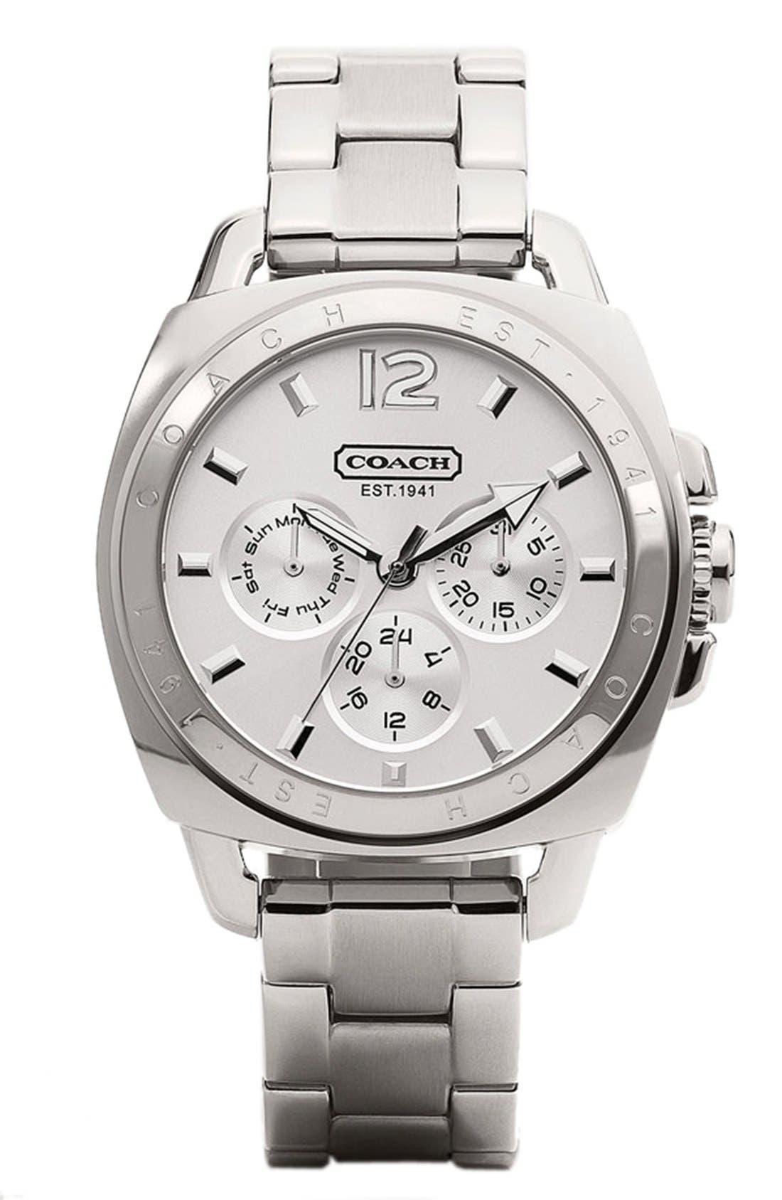 Alternate Image 1 Selected - COACH 'Boyfriend' Bracelet Watch, 38mm