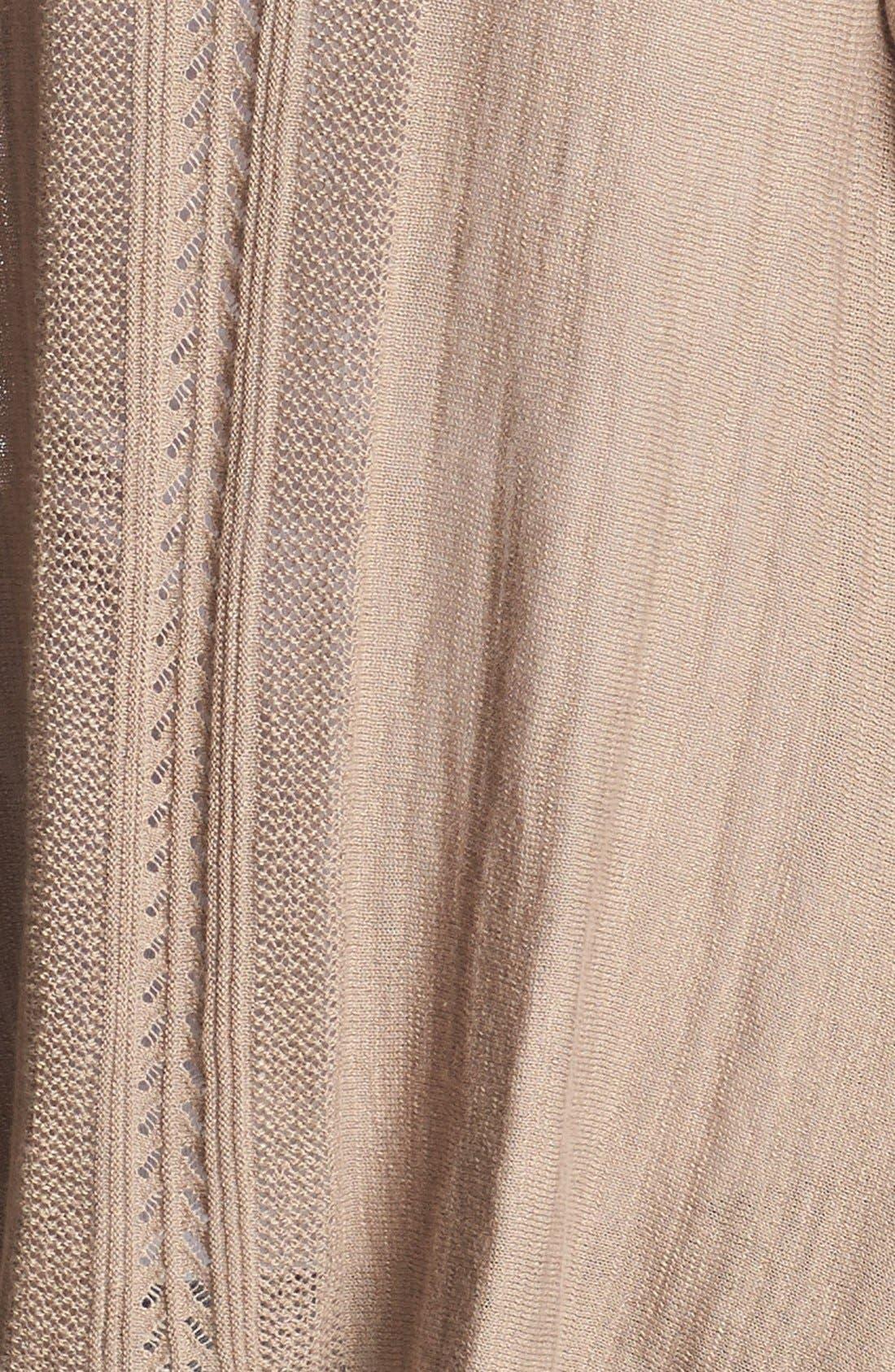 Alternate Image 3  - Lucky Brand Pointelle Wrap Cardigan