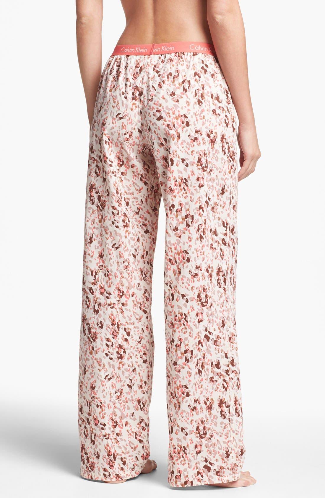 Alternate Image 2  - Calvin Klein Roll Up Pajama Pants