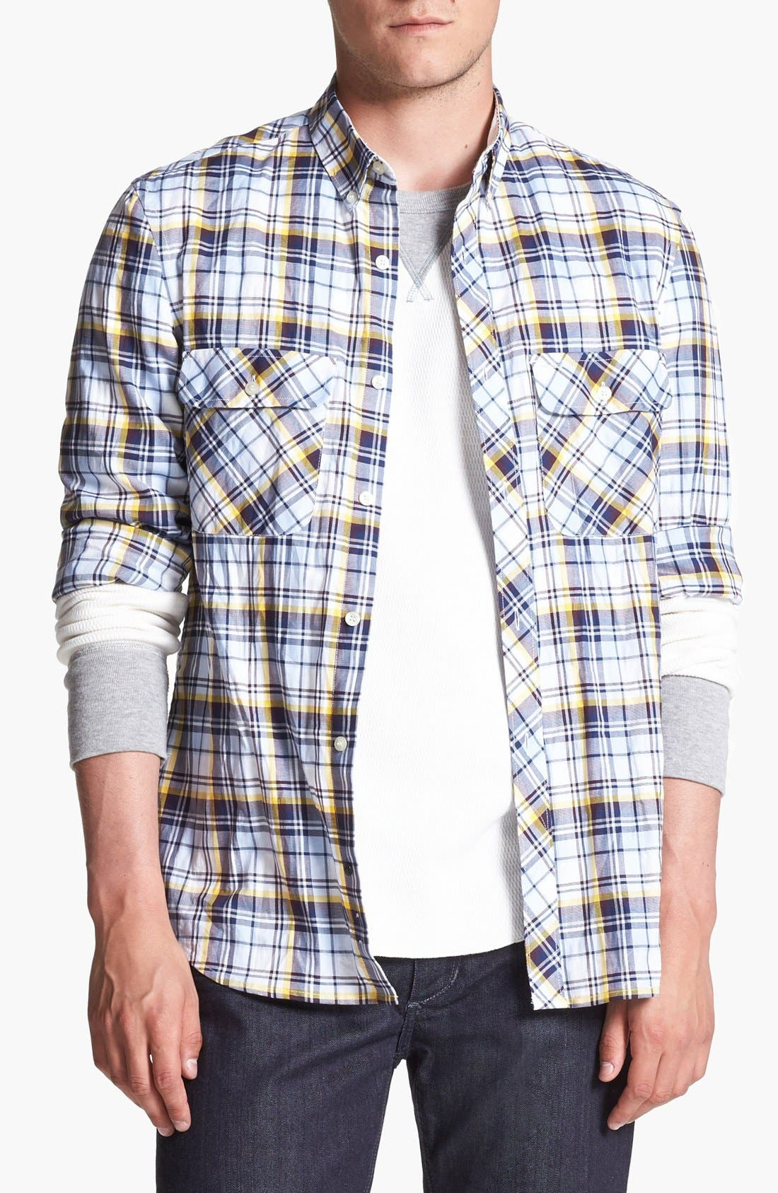 Alternate Image 1 Selected - French Connection 'Thames Valley' Slim Fit Sport Shirt