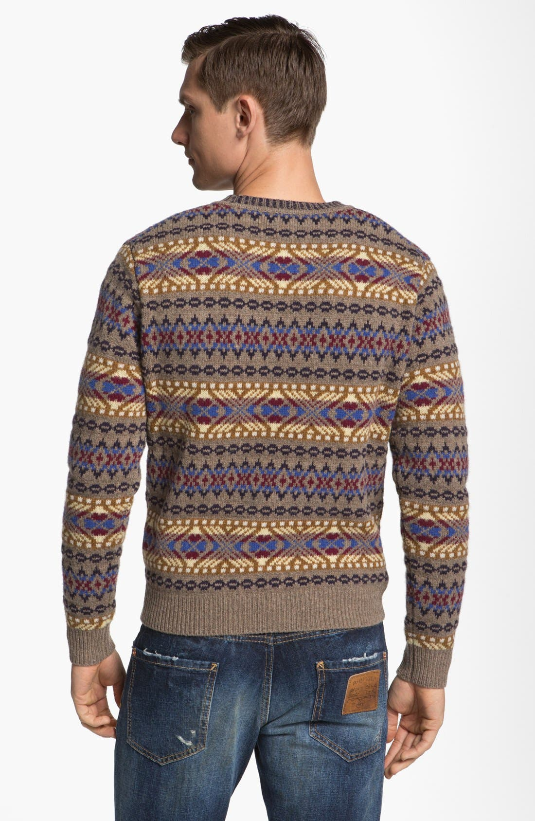 Alternate Image 2  - Dsquared2 Fair Isle Wool Crewneck Sweater
