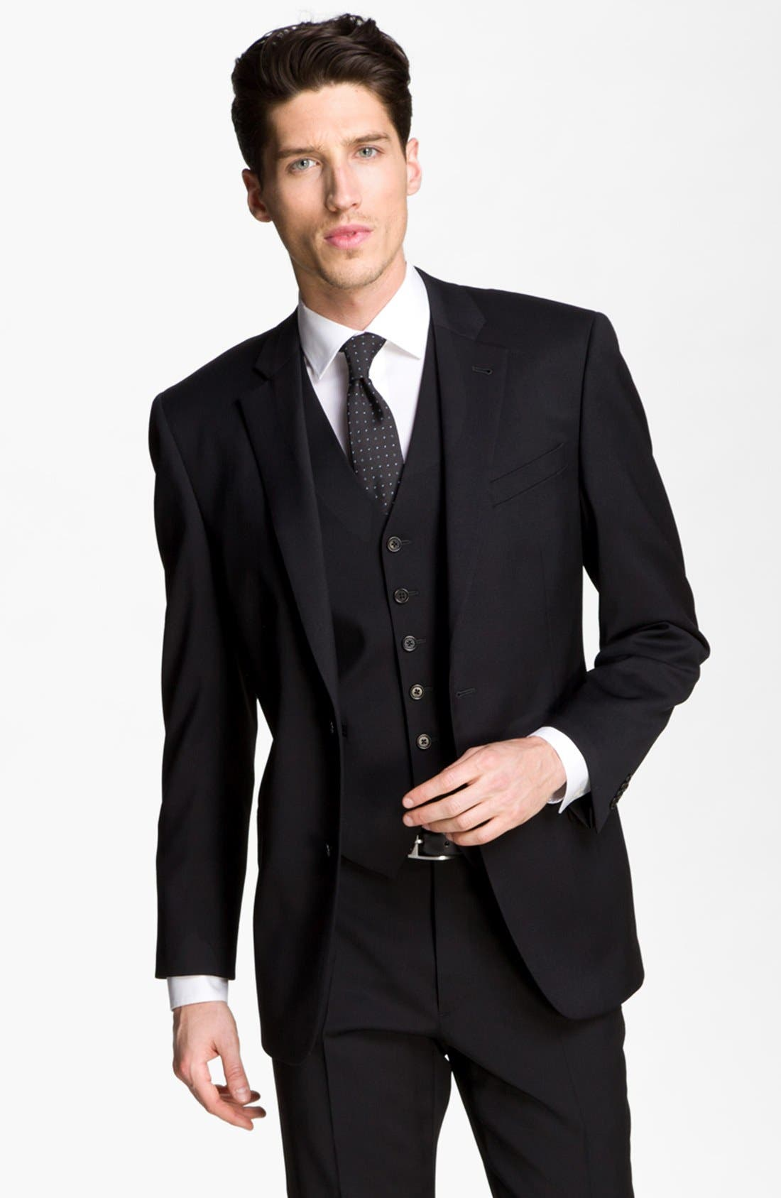 Main Image - John Varvatos Star USA Trim Fit Wool Blend Sportcoat